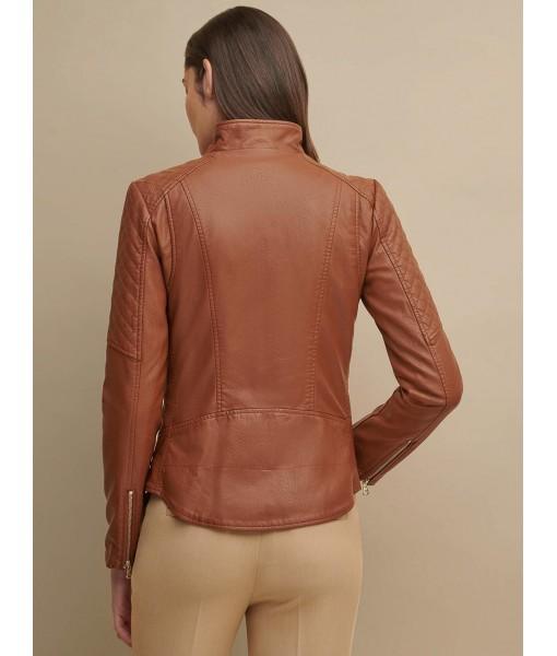 MOZRI  100% Genuine Leather Jacket for Women's