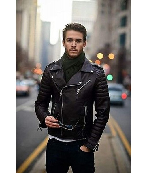 Mozri  Lambskin leather jacket for mens