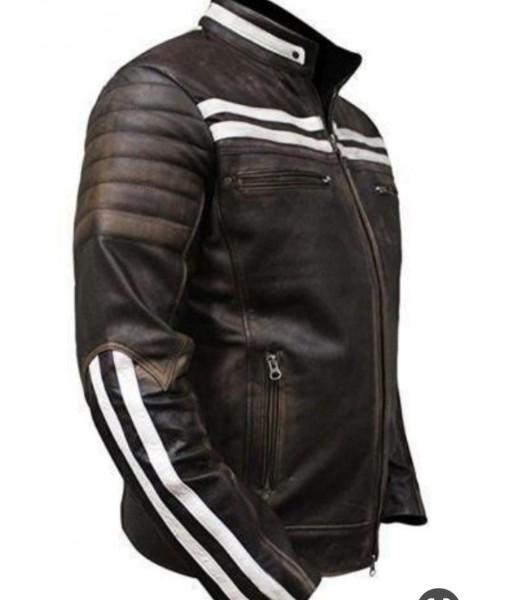 MOZRI  100% Genuine  Vintage Leather Jacket for Men's
