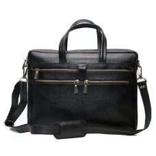 MOZRI 15 inch Expandable Laptop Messenger Bag  (BLACK)