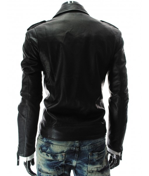 MOZRI 100% Genuine Leather Black Men's Jacket