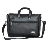 Mozri 100% Genuine Leather 14 inch Expandable Laptop Messenger Bag
