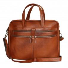 MOZRI 15 inch Expandable Laptop Messenger Bag  (TAN)