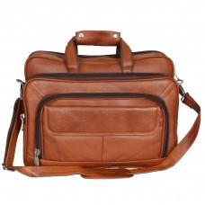 MOZRI 16 inch Expandable Laptop Messenger Bag  (Tan)