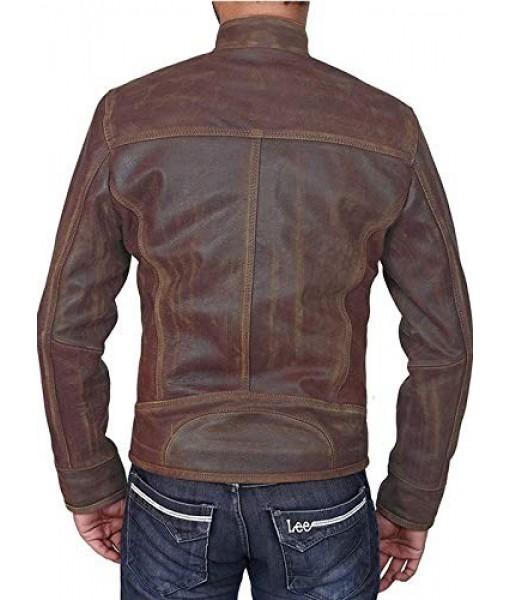 Mozri 100% Genuine oil pullf Leather Jacket For Men