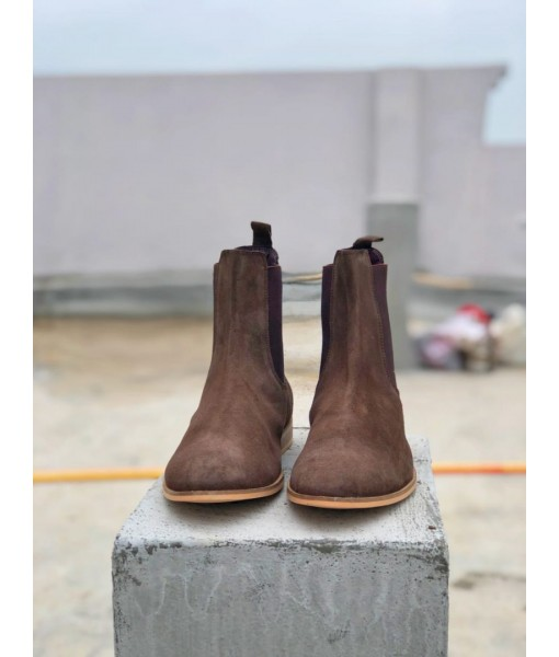 BROWN SUEDE LEATHER CHELSEA