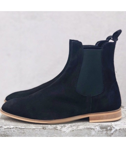 BLACK SUEDE LEATHER CHELSEA