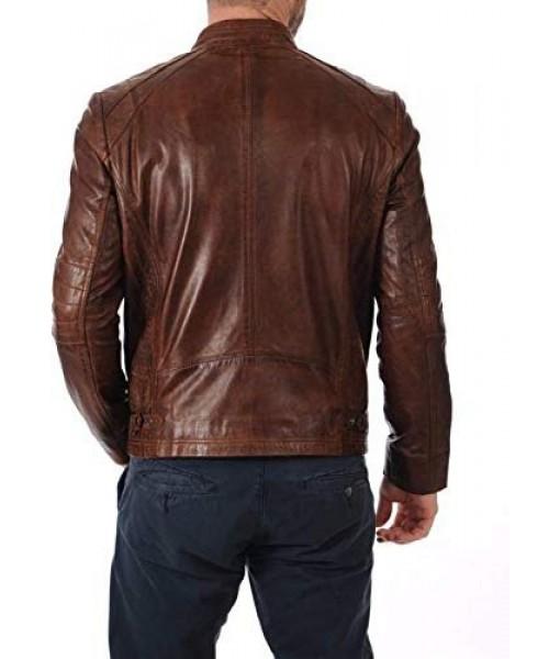 Mozri 100% genuine Oil Pullf leather jacket for mens