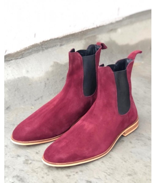 MAROON SUEDE LEATHER CHELSEA