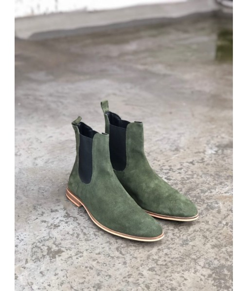 GREEN SUEDE LEATHER CHELSEA