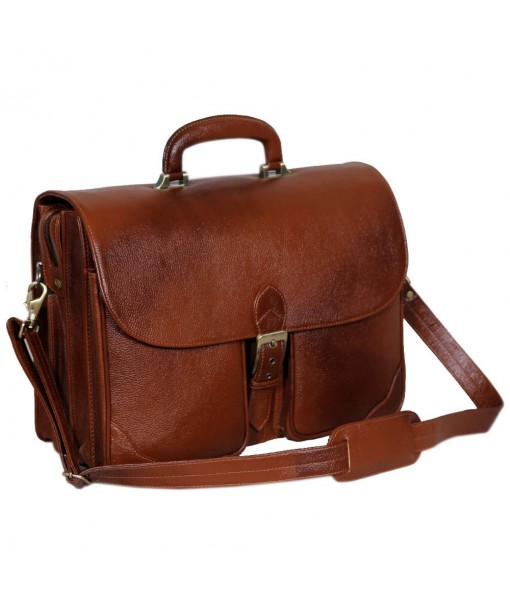 Mozri Leather Accessories 16.5 Inch Laptop Briefcase for Men