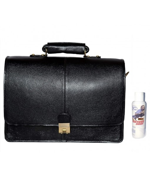 Mozri Leather Accessories 16 Inch Leather Briefcases Laptop Office Bags for Men