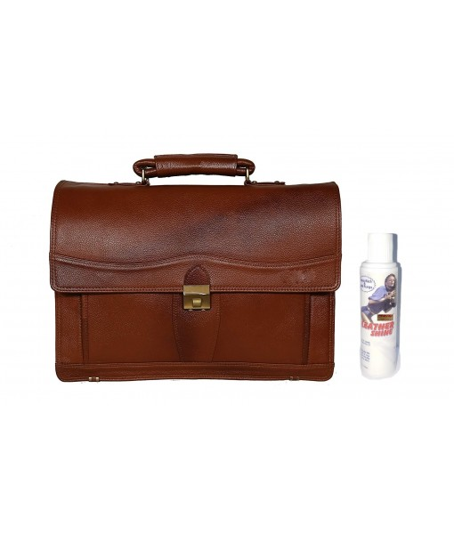 Mozri Leather Accessories 17 Inch Men's Leather Briefcases Laptop Office Bags