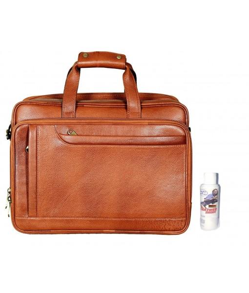 Mozri Leather Accessories 16 Inch Men's Leather  Laptop Bag