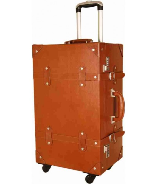 MOZRI VINTAGE LEATHER SUITCASE