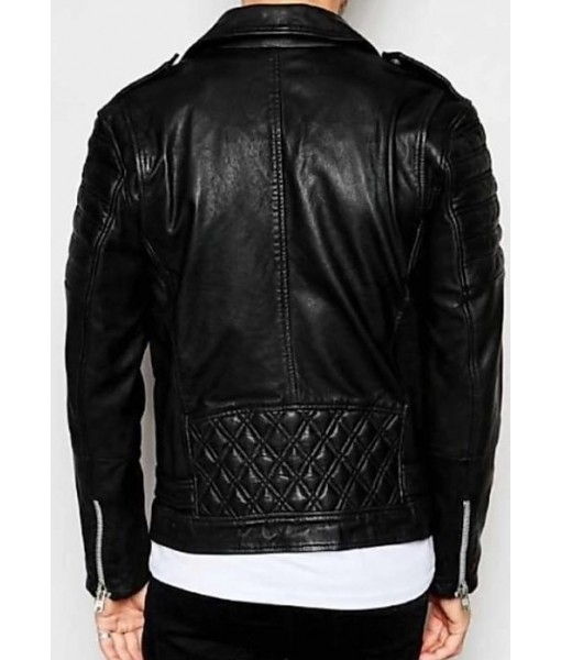 Mozri 100% genuine lambskin  leather jacket for mens