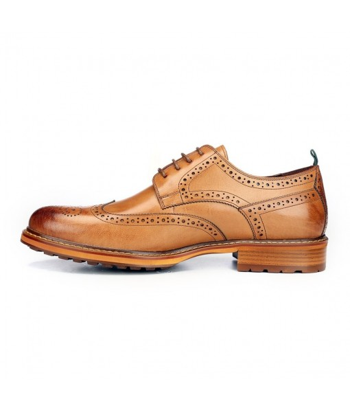 TAN BROWN FORMAL LEATHER SHOES FOR MENS