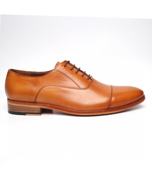 TAN OXFORD FORMAL LEATHER SHOES FOR MENS