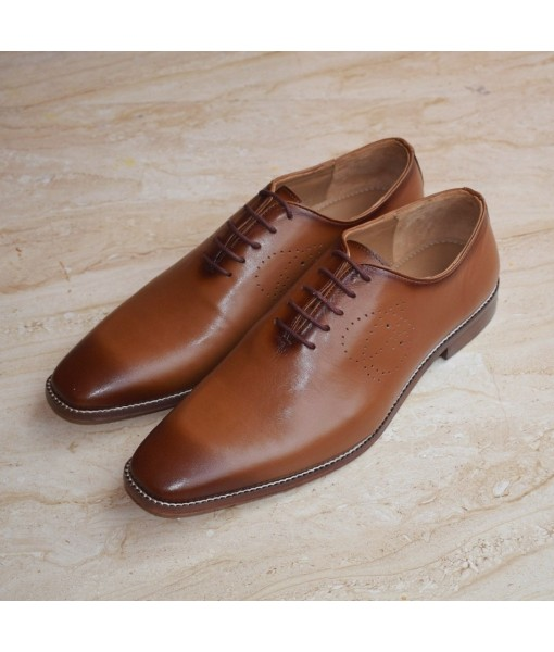 TAN FORMAL LEATHER SHOES FOR MENS