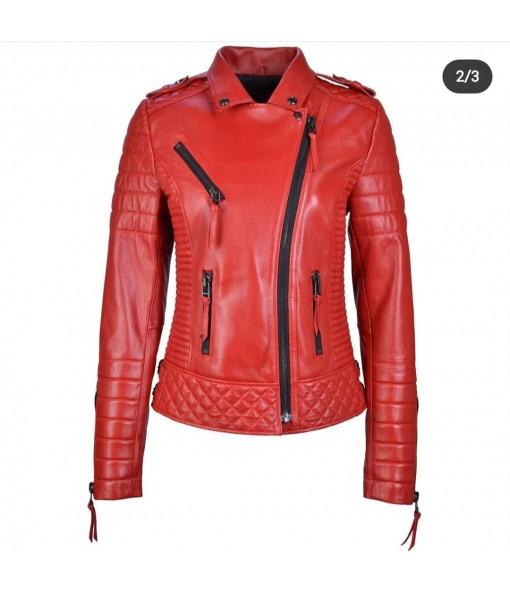 Mozri  Lambskin leather jacket for womens