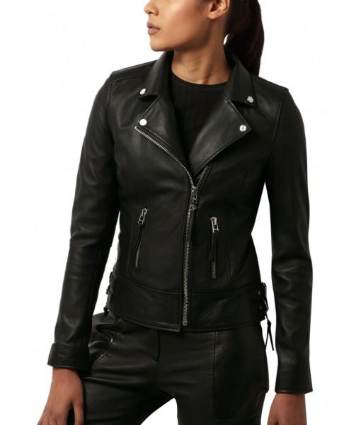 MOZRI 100% Genuine Leather Women's Jacket