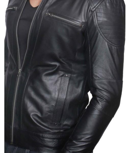 MOZRI 100% Genuine Leather Jacket for Mens