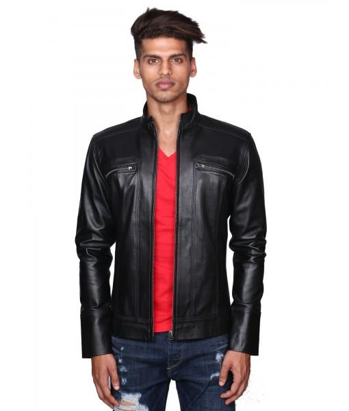 MOZRI 100% Genuine Leather Jacket for Men's