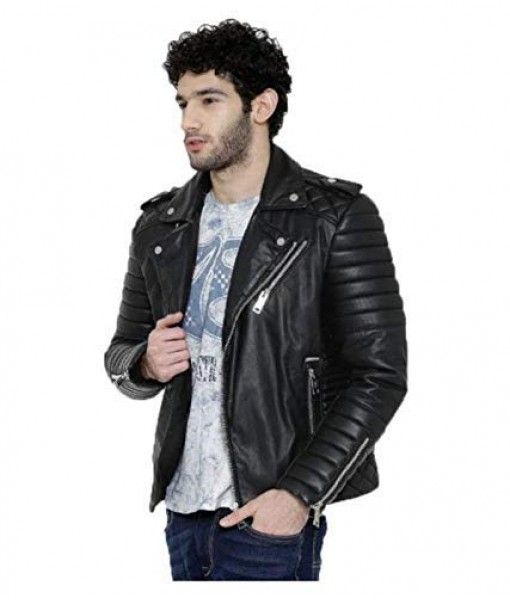 Mozri  Lambskin leather jacket for mens
