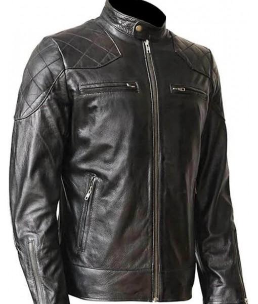 Mozri David Beckham Leather Jacket For Mens
