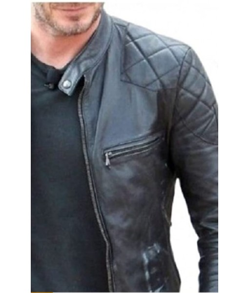 Mozri David Beckham Leather Jacket For Mens