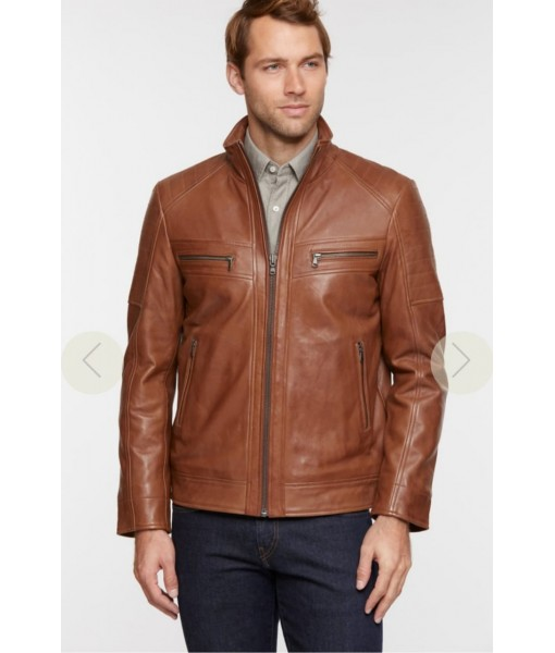 Mozri 100% Genuine Leather Jacket For Men