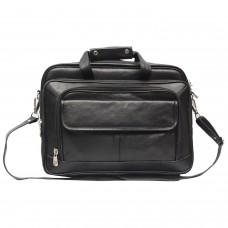 MOZRI 16 inch Expandable Laptop Messenger Bag  (Black)