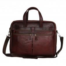 MOZRI 15 inch Expandable Laptop Messenger Bag  (BROWN)