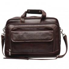 MOZRI 16 inch Expandable Laptop Messenger Bag  (Brown)