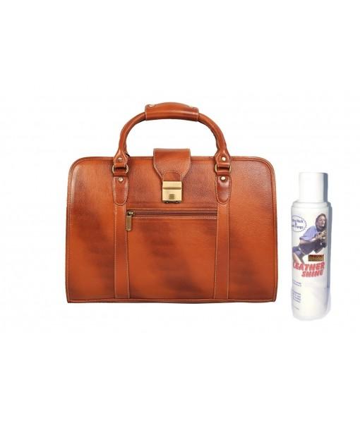 MOZRI 20 Ltrs Brown Laptop Messenger Bag