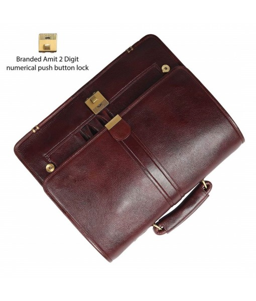 Mozri 100% Leather Office Bag for Men&Women with Comfortable 15.6'' Inches Laptop