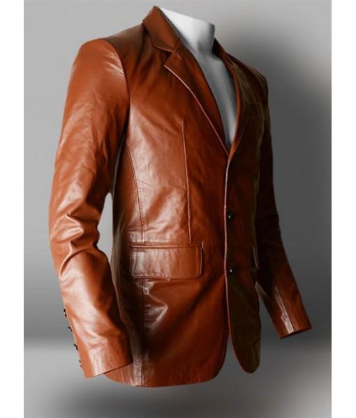 Mozri  Lambskin Blazzer leather jacket for mens