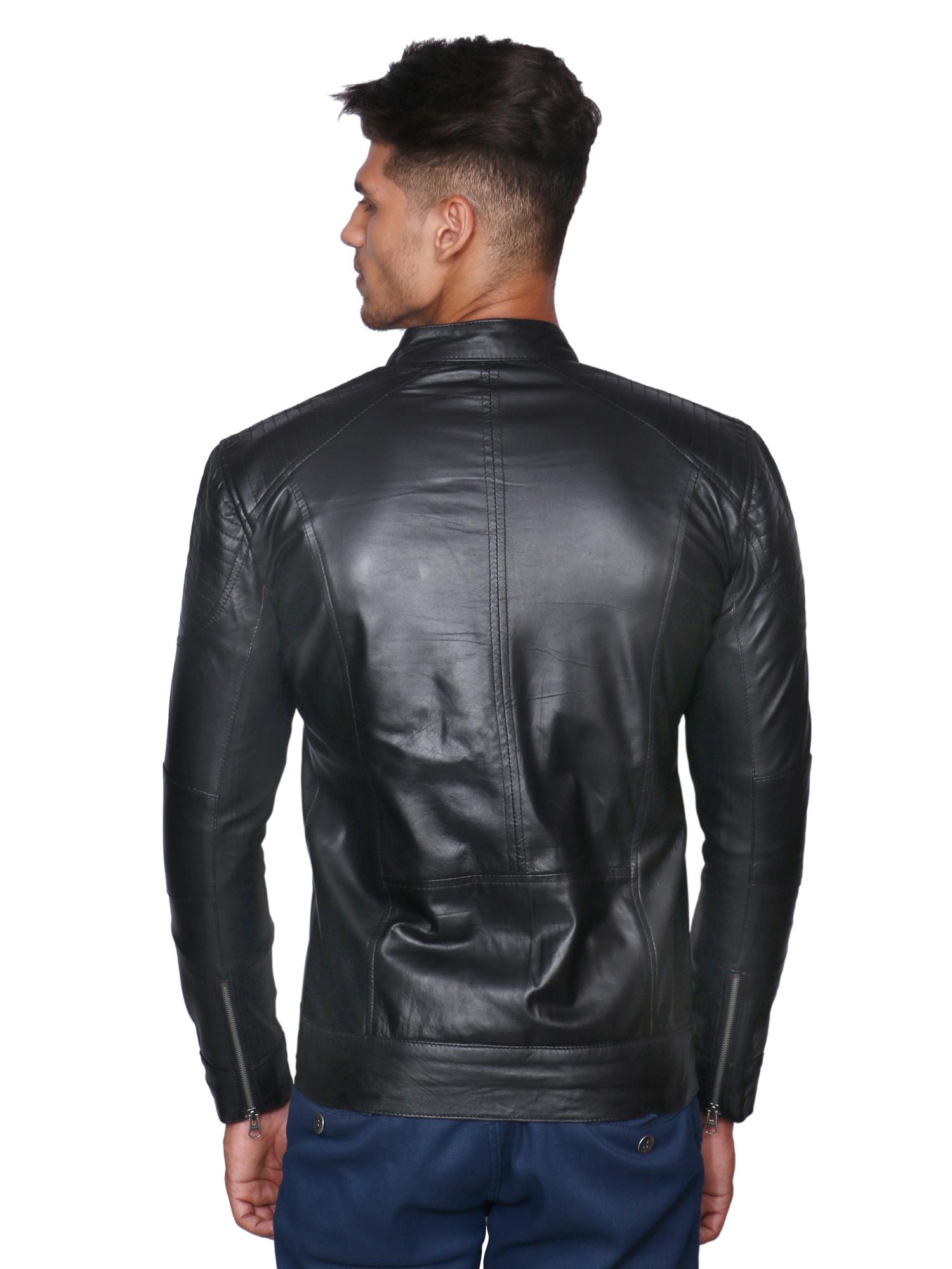 Mozri 100 Genuine Leather Black Men S Jacket